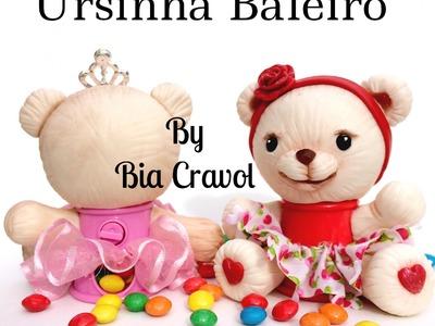 DIY: Ursinha Baleiro Parte 1- biscuit - porcelana fria - By Bia Cravol