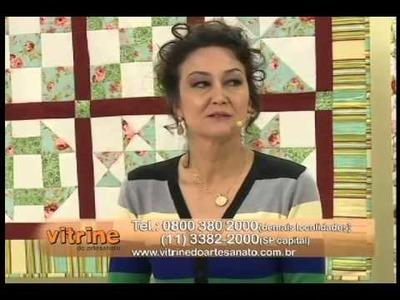 Capa com Patricia Washington e Tapete com Márcia Ester | Vitrine do Artesanato na TV.