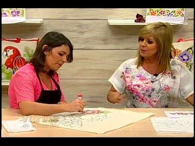 Pintura com tinta tecido com Denise Emery - Vitrine do Artesanato na TV
