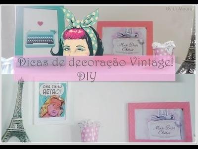 DIY ♥ decoração vintage para o quarto gastando pouco! room decor| By Li Moura