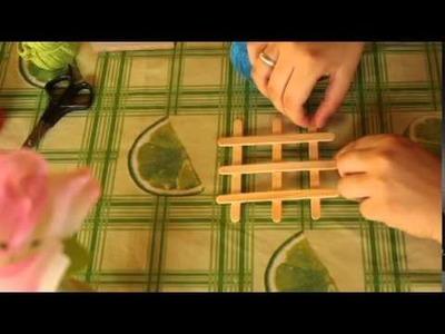 DIY: Faça você mesmo um porta copos com palito de picolé