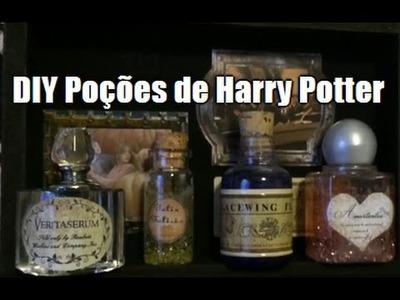 #DIY Poções de Harry Potter & Meu Baú de Poções