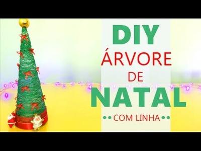 Faça sua Árvore de Natal com LINHA - DIY por Coisas de Jessika