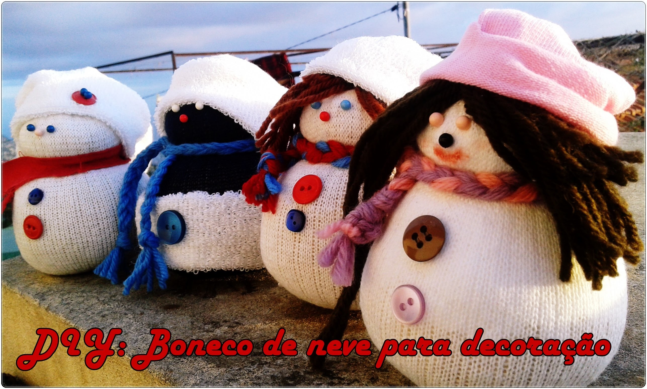 #Rudclaus| DIY: Como fazer um boneco de neve simpl