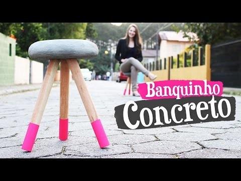 DIY - BANQUINHO DE CONCRETO
