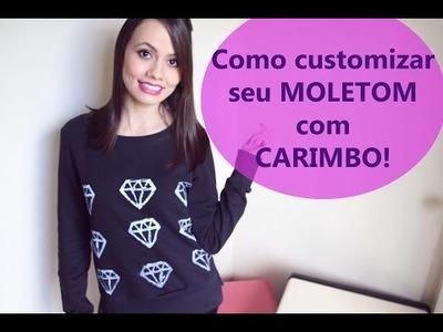 DIY: MOLETOM DE DIAMANTES - FAÇA VOCÊ MESMO!