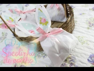 DIY Páscoa: Sacolinha de coelho! ♥ Para economizar!
