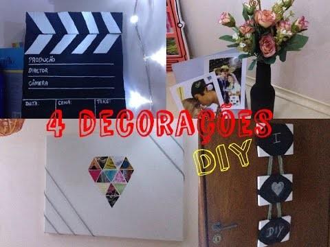 DIY | 4 decorações criativas para seu quarto