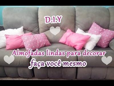 Almofadas customizadas #diy