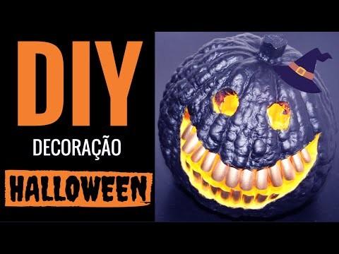 DIY - Como fazer uma abóbora de Halloween
