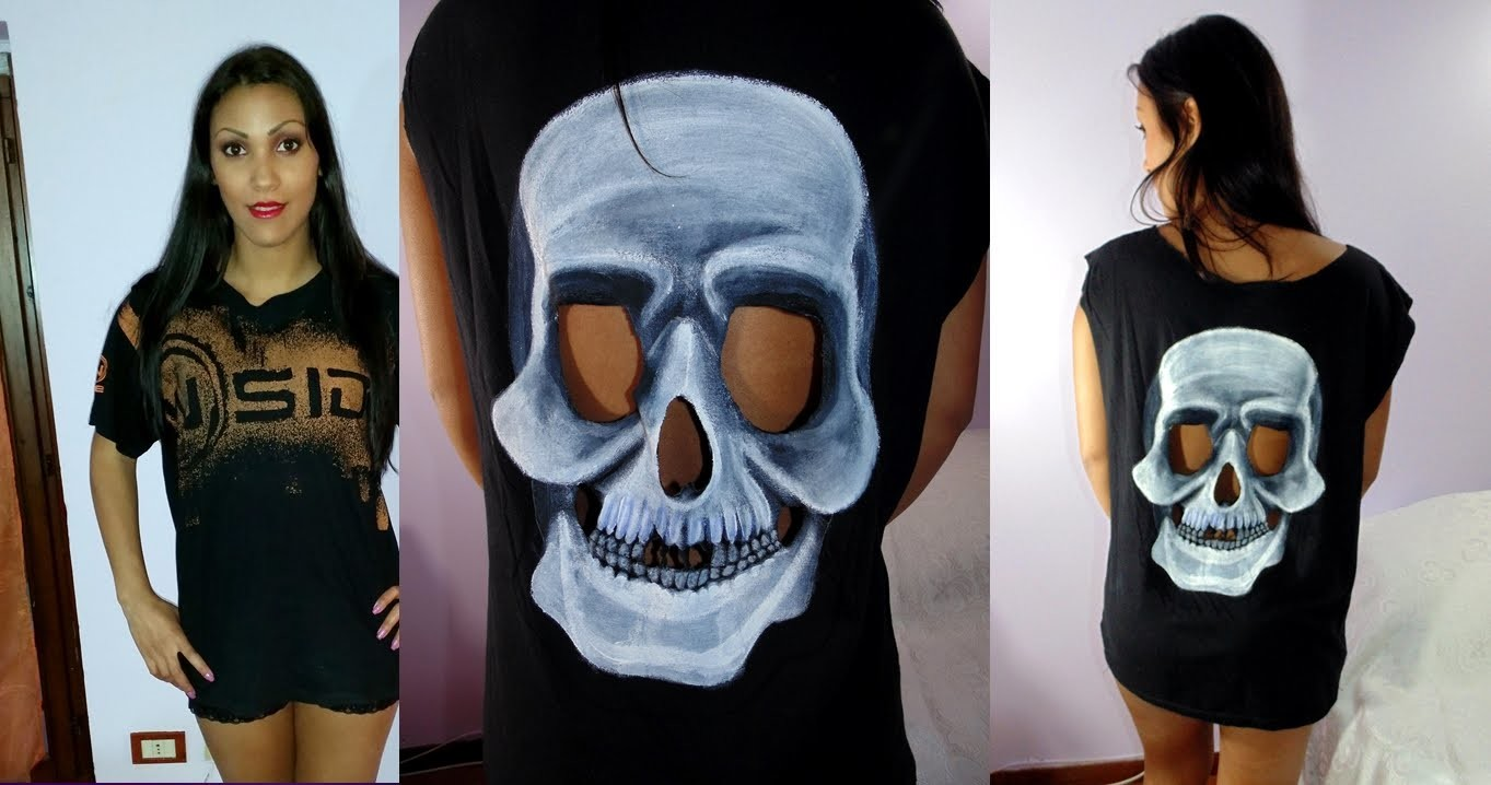 ✂ DIY | faça você mesma  blusa Kaverinha Halloween