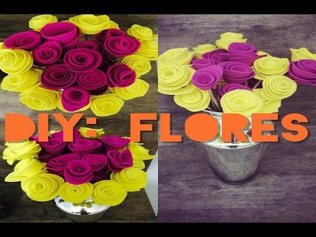 Diy: FLORES E.V.A ♥ | Bruna Panizo