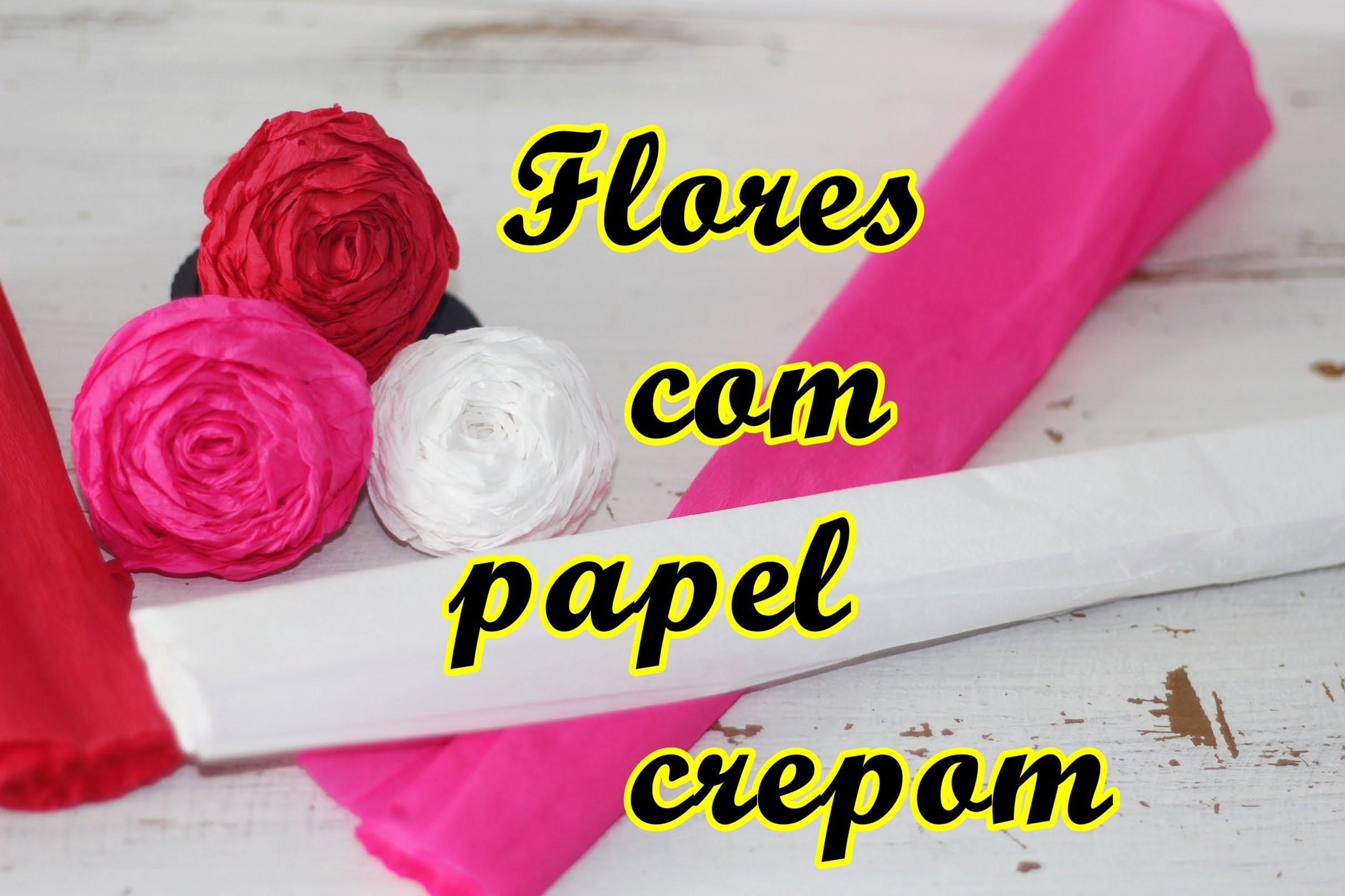 DIY-  Fazendo flores com papel crepom