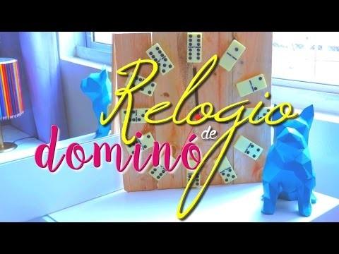 DIY: RELÓGIO DE DOMINÓ Por Decor Criative