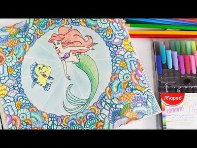 Oceano Perdido Mandala de Corais Sereia Ariel Disney Livros de Colorir DIY