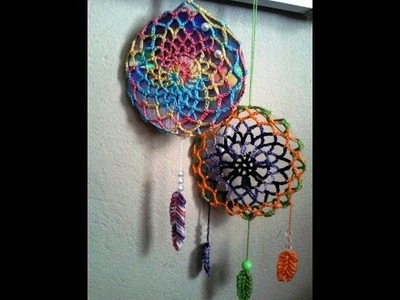 Croche dreamcatchers (filtro dos sonhos )com base no CD ( DIY )