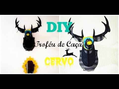 DIY - Cabeça de Cervo.Veado com sacola de shopping (Melissa)
