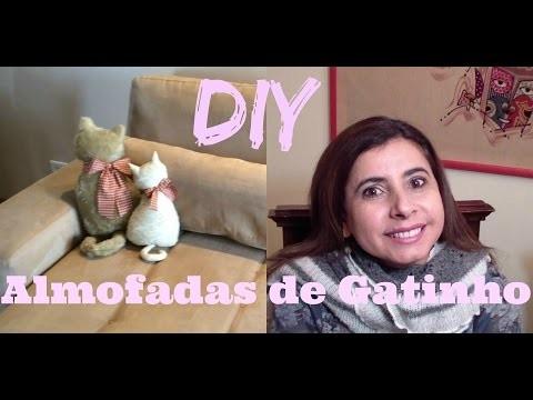 DIY, COMO FAZER ALMOFADA DE GATINHO | YOUTUBER AMIGO