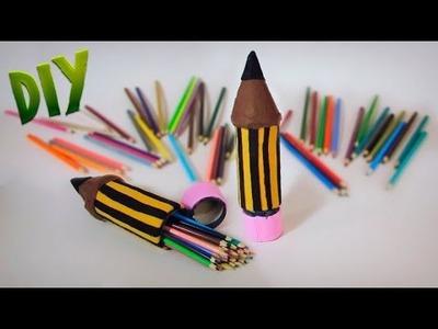 DIY Como fazer Estojo em formato de lápis - Volta ás aulas | Aprenda com Edu