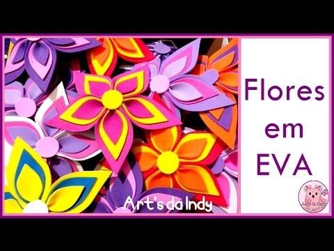 DIY - Flor com cinco pétalas em EVA