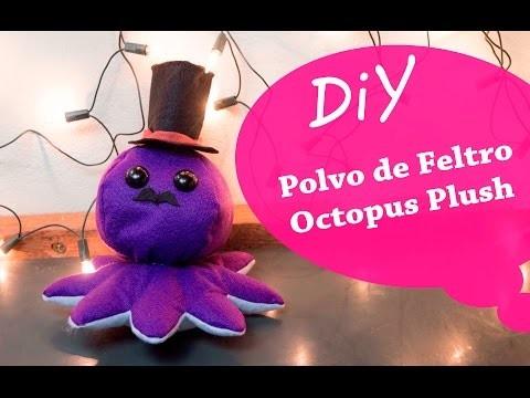 DIY - Pelúcia de Polvo em Feltro - Felt Plush Octopus