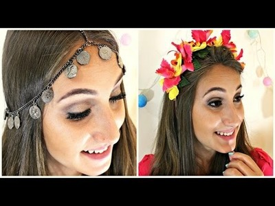 DIY: Tiara de Flores e Chain Head Piece -