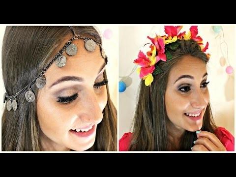 DIY: Tiara de Flores e Chain Head Piece -