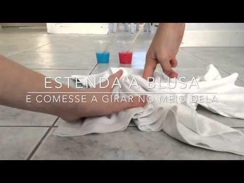 DIY -Tutorial - como fazer.blusa.Tie dye