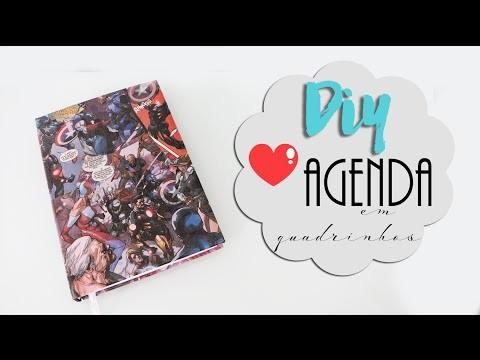 DIY volta às aulas: Agenda. caderno quadrinhos - Capitão América! MUITO FÁCIL!