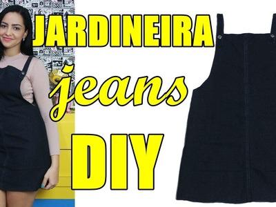 Como fazer jardineira.salopete jeans com sobras de pernas de calça Diy - Suellen Redesign