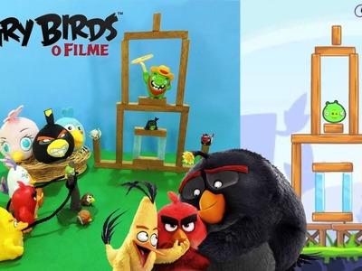 DIY: Como fazer maquete do Angry Birds (ft. Coleções Mc Donald's) | Corujices da Lu