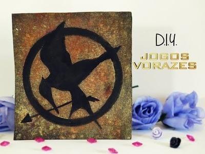 D.I.Y.  Quadro de Jogos Vorazes | The Hunger Games | Especial Séries e Filmes 2.0