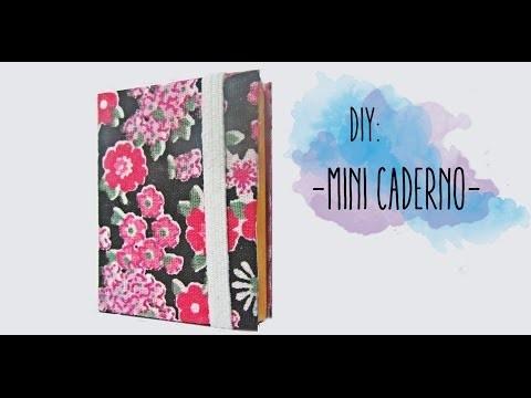 DIY: Como fazer um mini caderno (Reciclagem)
