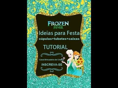DIY FROZEN. Ideias para  lembrancinhas e decoração Frozen Fever.Frozen Inspired Decoration