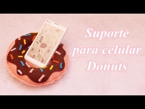 DIY: Suporte para celular donuts. crafts PHONE HOLDER doughnut.