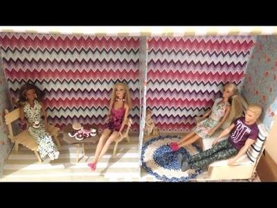 Tutorial Casa de Bonecas Barbie de Papelão - Passo a Passo DIY