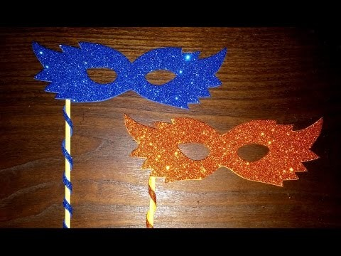 Como fazer máscara de eva - DIY -  How to make a carnival mask