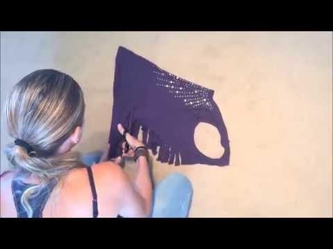 Como fazer uma Blusa recortada nas costas DIY