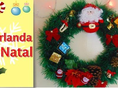 DIY - Como Fazer Guirlanda de Natal em Casa sem gastar NADA