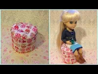 DIY - Como fazer um puff para bonecas
