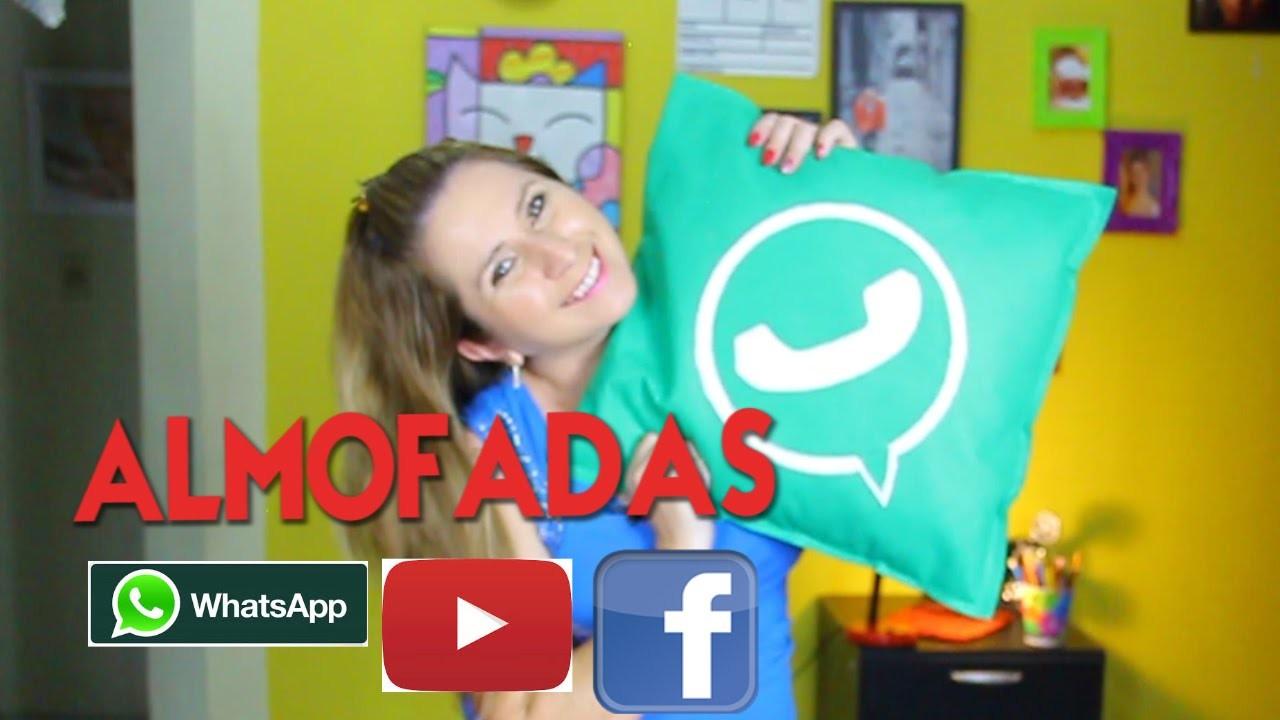 Diy-Drika Valentim Como Fazer Almofada do Facebook e Whatsapp