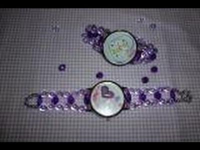 DIY.Faça você mesma  pulseira para relógio  pérola e cristal