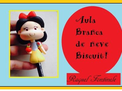 DIY- Ponteira de lápis Branca de Neve em Biscuit - Raquel Fontinele