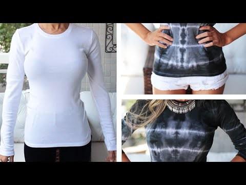 DIY: Transformando blusa com R$2,00 | Técnica TIE-DYE - customização