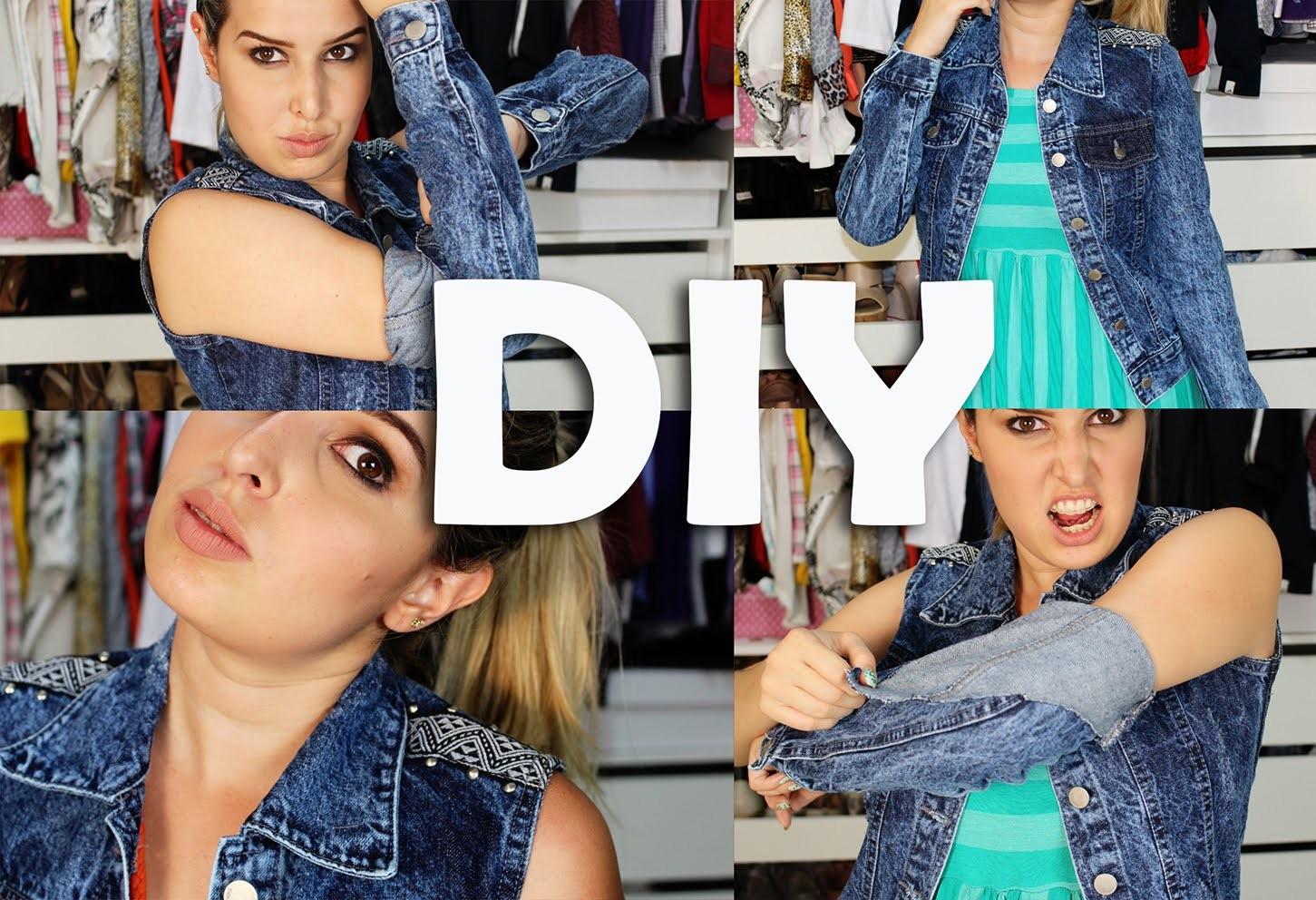 DIY- Transformando uma Jaqueta em Colete. Thabatta Campos