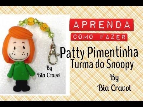 Patty Pimentinha da turma do Snoopy - Bia Cravol - DIY - aula de biscuit