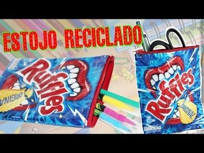 DIY: Estojo com embalagem de Ruffles | RECICLADO