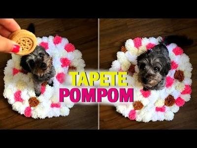 DIY: TAPETE DE POMPOM - Por Lorena Lima