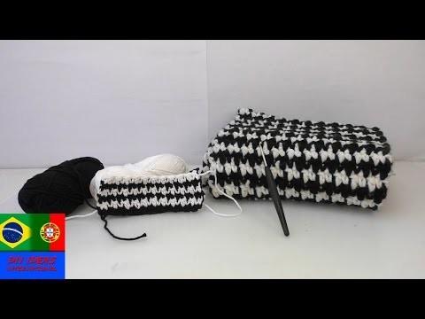 Crochet de dois tons – Preto e Branco tendência