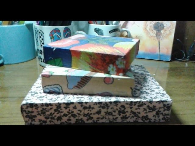 Decorando caixa de madeira com tecido! Decoupage DIY